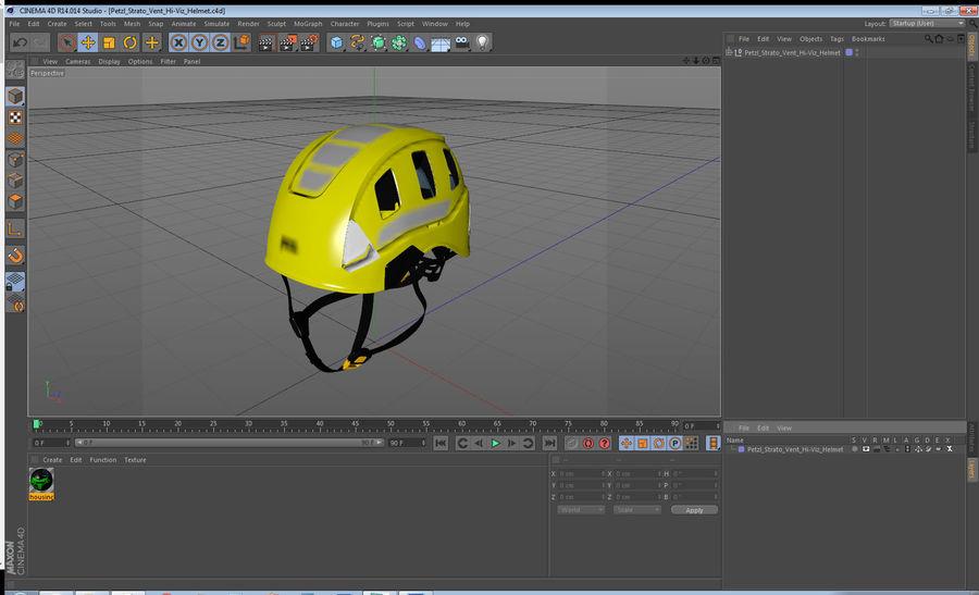 Petzl Strato Vent Hi-Viz Helmet royalty-free 3d model - Preview no. 14
