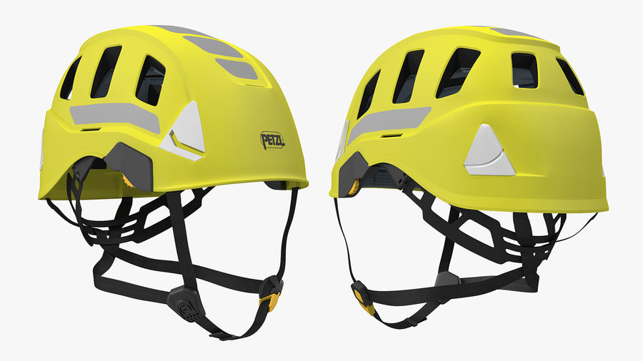 Petzl Strato Vent Hi-Viz Helmet royalty-free 3d model - Preview no. 5