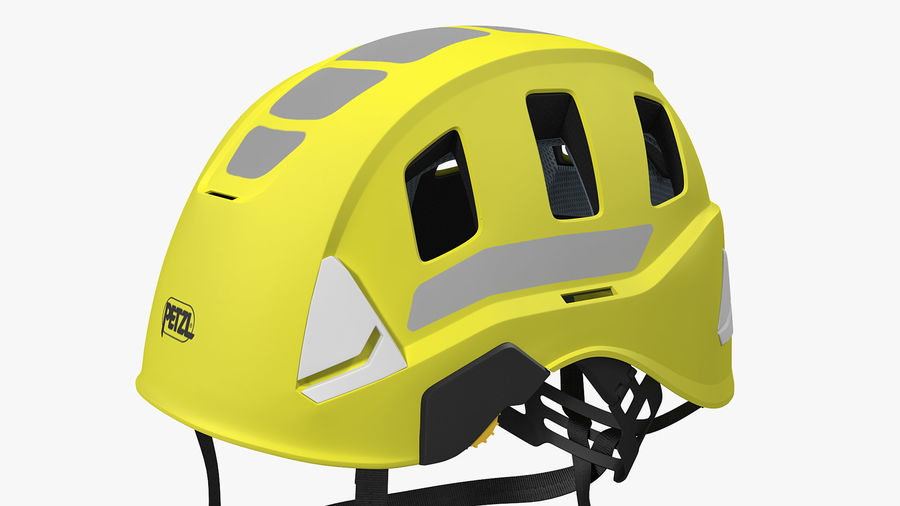Petzl Strato Vent Hi-Viz Helmet royalty-free 3d model - Preview no. 8
