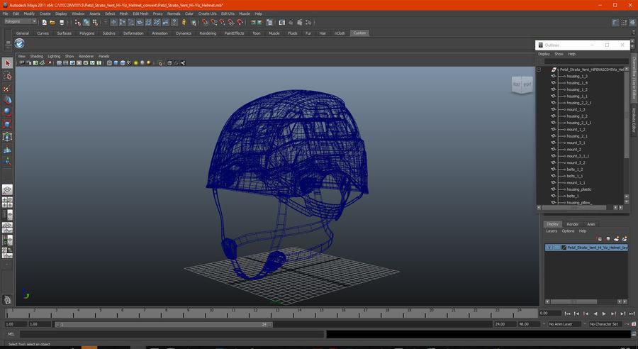 Petzl Strato Vent Hi-Viz Helmet royalty-free 3d model - Preview no. 13
