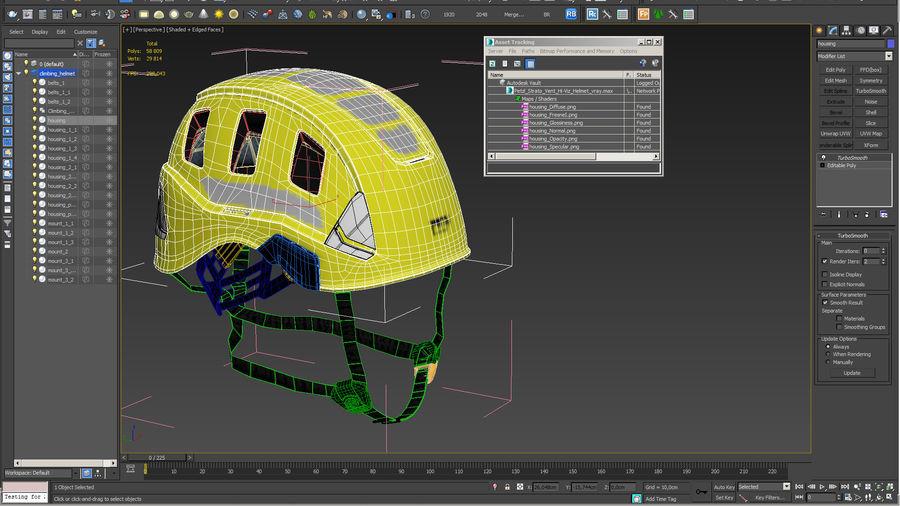 Petzl Strato Vent Hi-Viz Helmet royalty-free 3d model - Preview no. 15