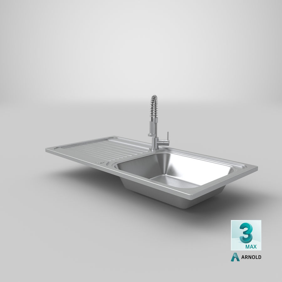 Rubinetto del lavello della cucina royalty-free 3d model - Preview no. 16