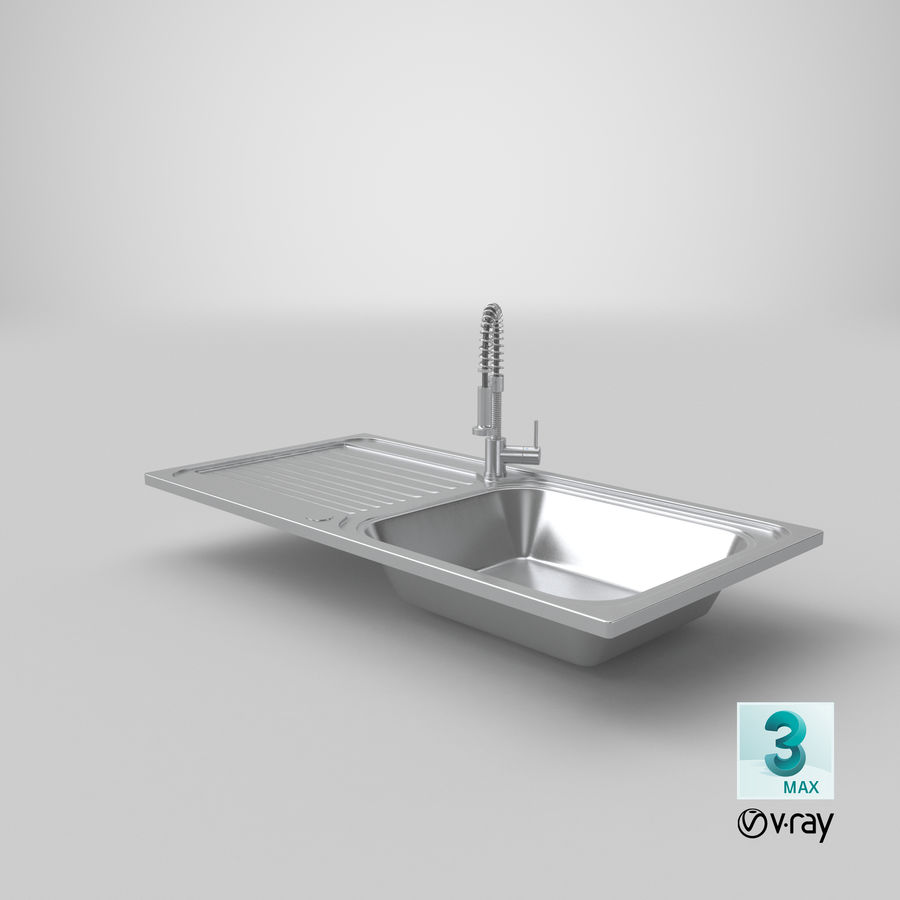 Rubinetto del lavello della cucina royalty-free 3d model - Preview no. 18