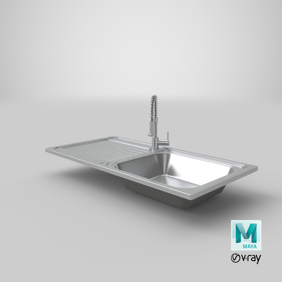 Rubinetto del lavello della cucina royalty-free 3d model - Preview no. 21