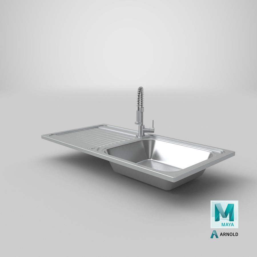 Rubinetto del lavello della cucina royalty-free 3d model - Preview no. 19