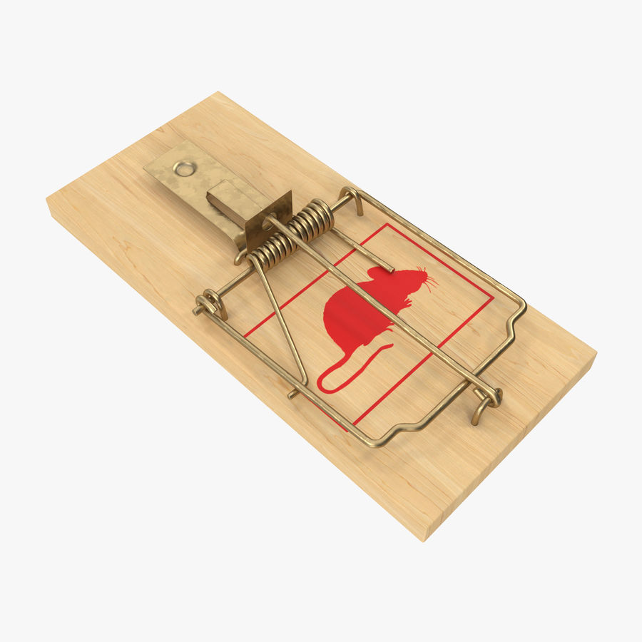 Mouse Trap royalty-free 3d model - Preview no. 1
