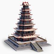 ビッグチャイニーズパゴダタワー 3d model