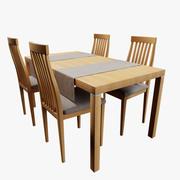简单餐桌 3d model