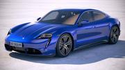 Porsche Taycan Turbo 2020 VRAY 3d model