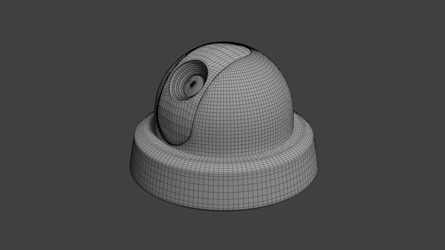 Security camera royalty-free 3d model - Preview no. 20