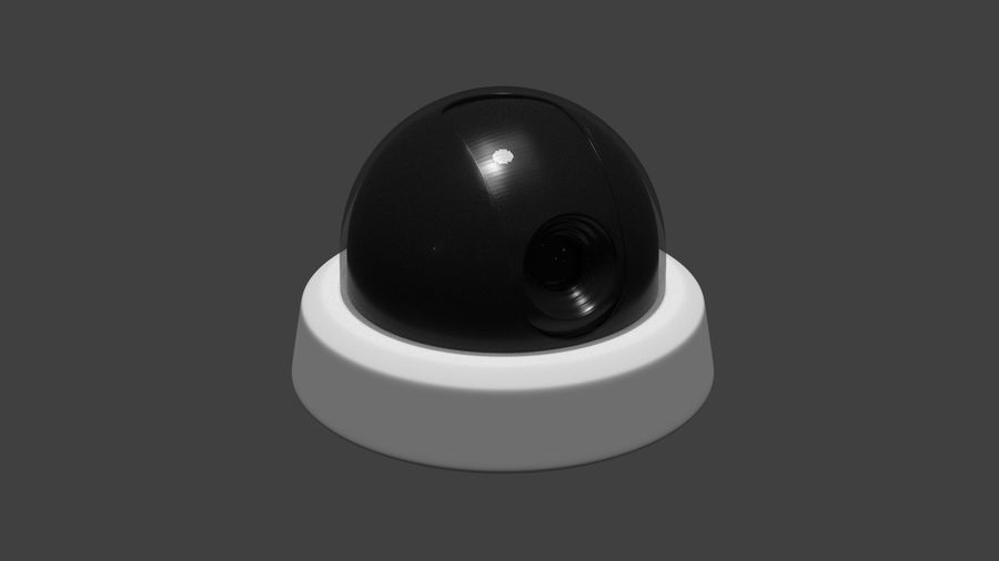 Security camera royalty-free 3d model - Preview no. 14