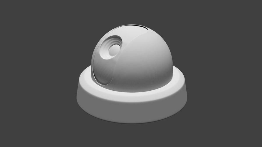 Security camera royalty-free 3d model - Preview no. 8