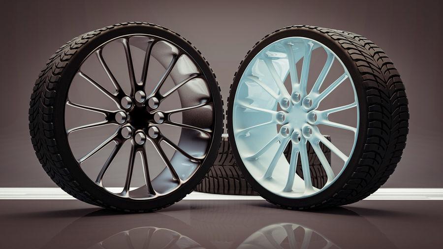 Car Wheel royalty-free 3d model - Preview no. 9