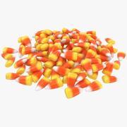 Candy Corn Pile 3d model