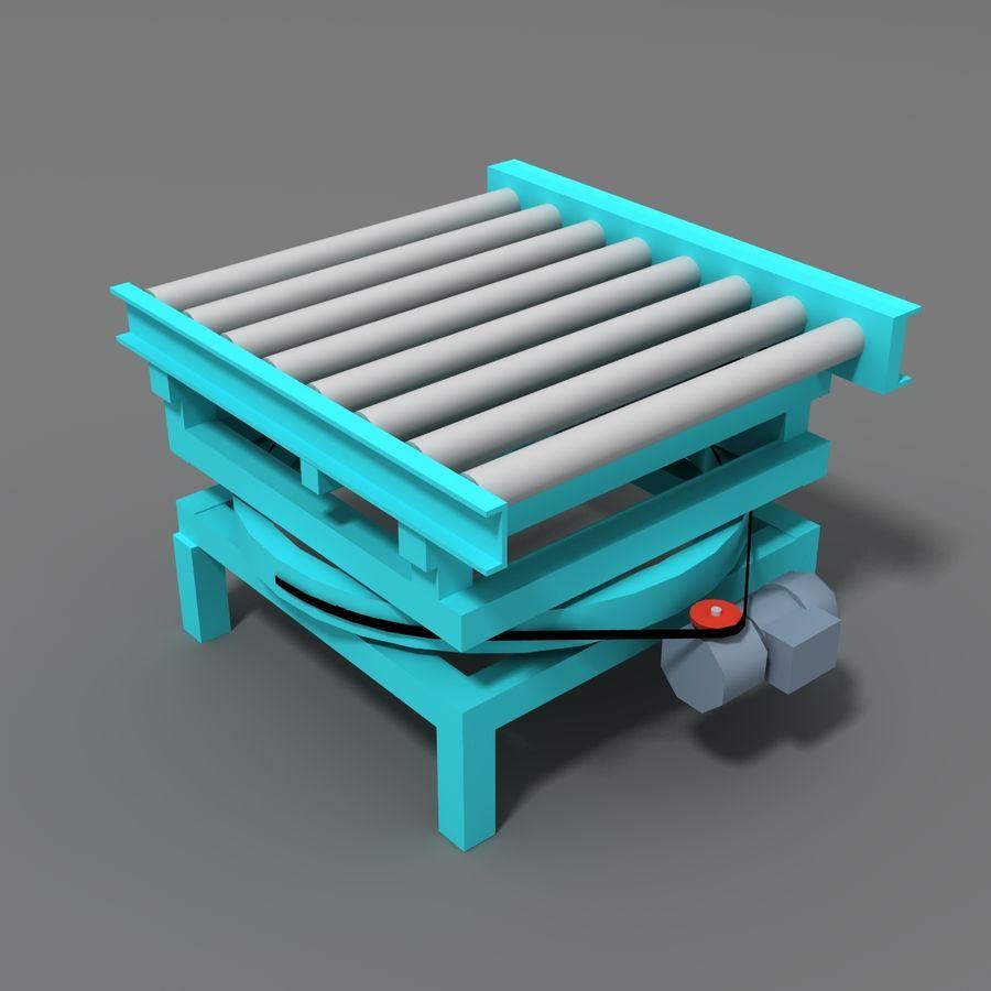 Conveyor stuff royalty-free 3d model - Preview no. 19