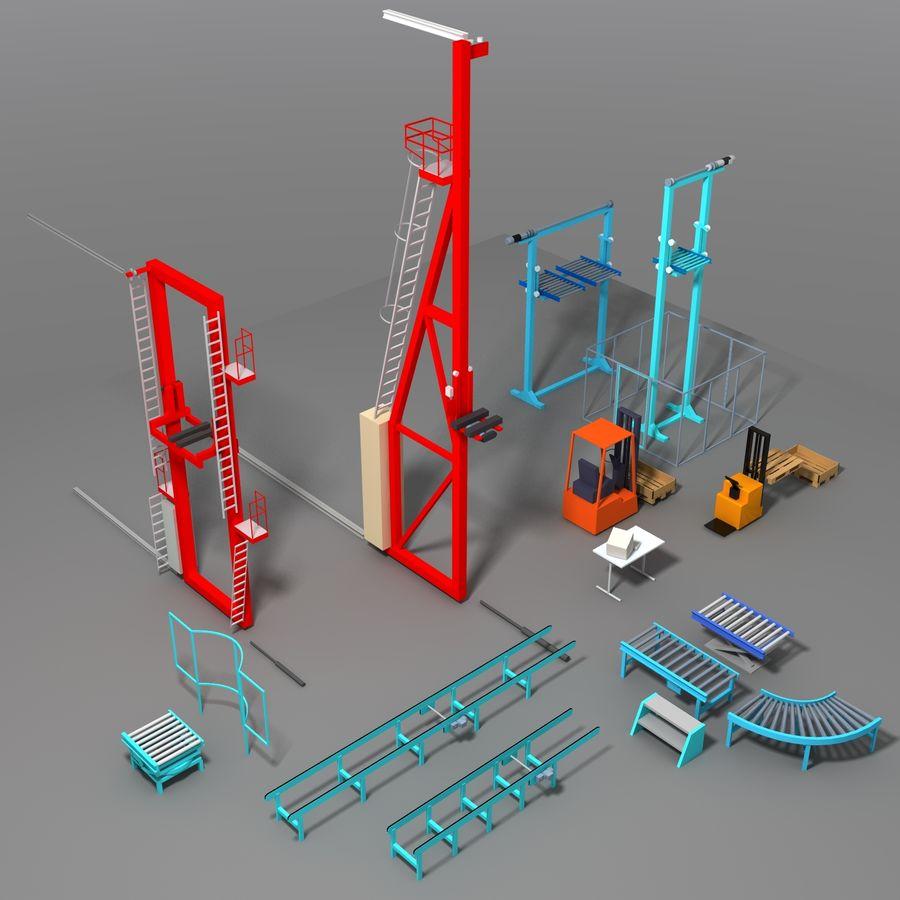 Conveyor stuff royalty-free 3d model - Preview no. 1