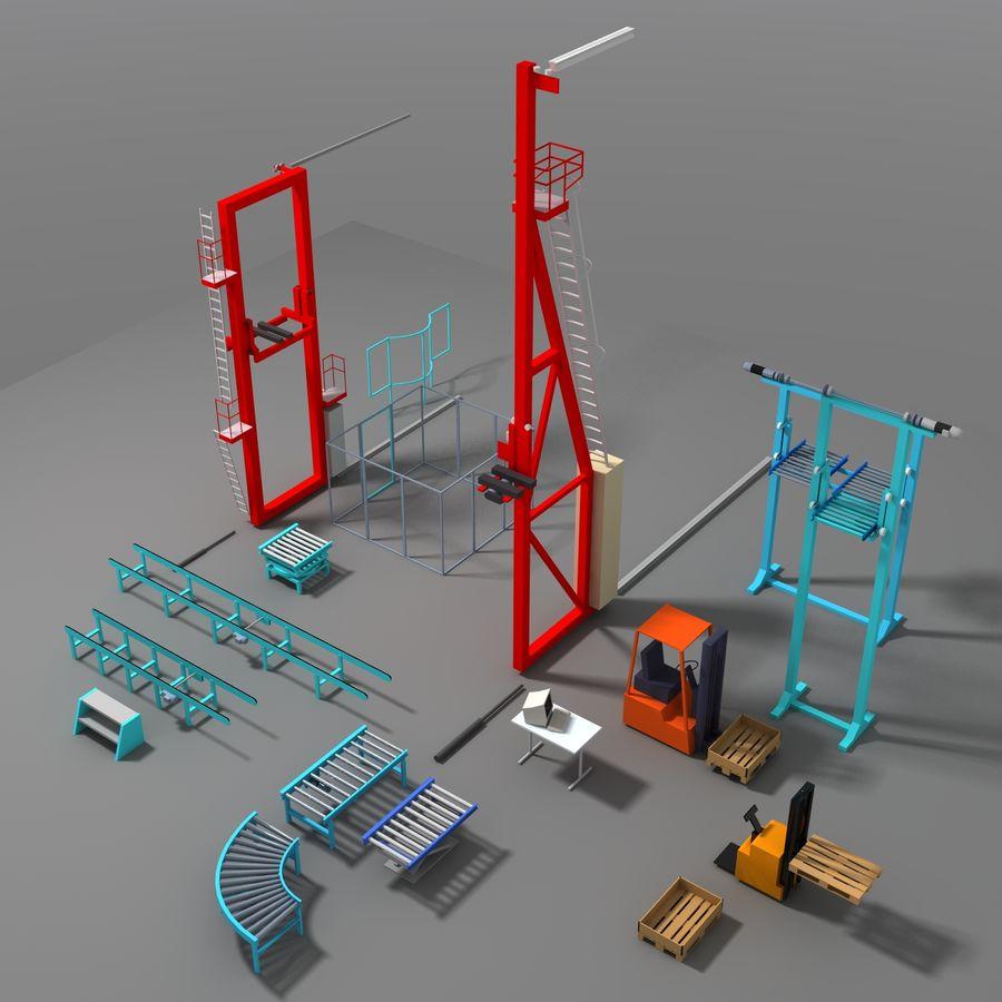 Conveyor stuff royalty-free 3d model - Preview no. 2