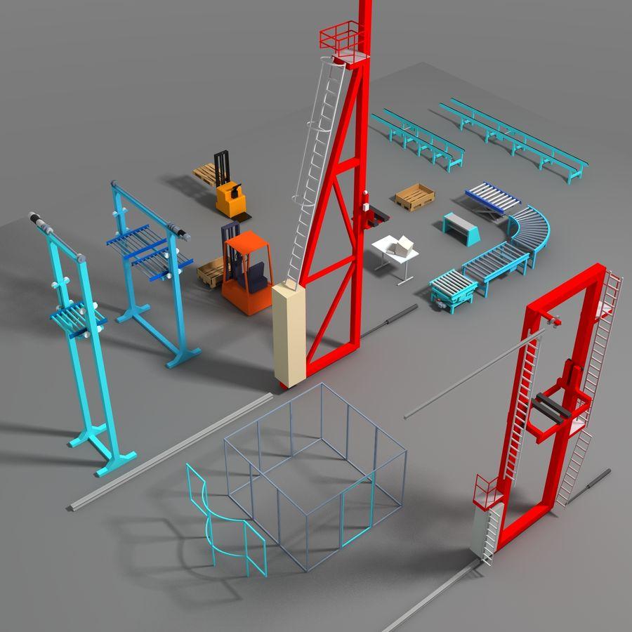 Conveyor stuff royalty-free 3d model - Preview no. 4