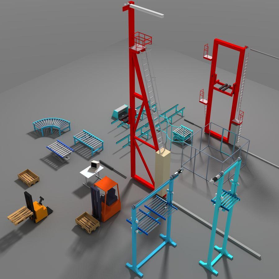 Conveyor stuff royalty-free 3d model - Preview no. 3