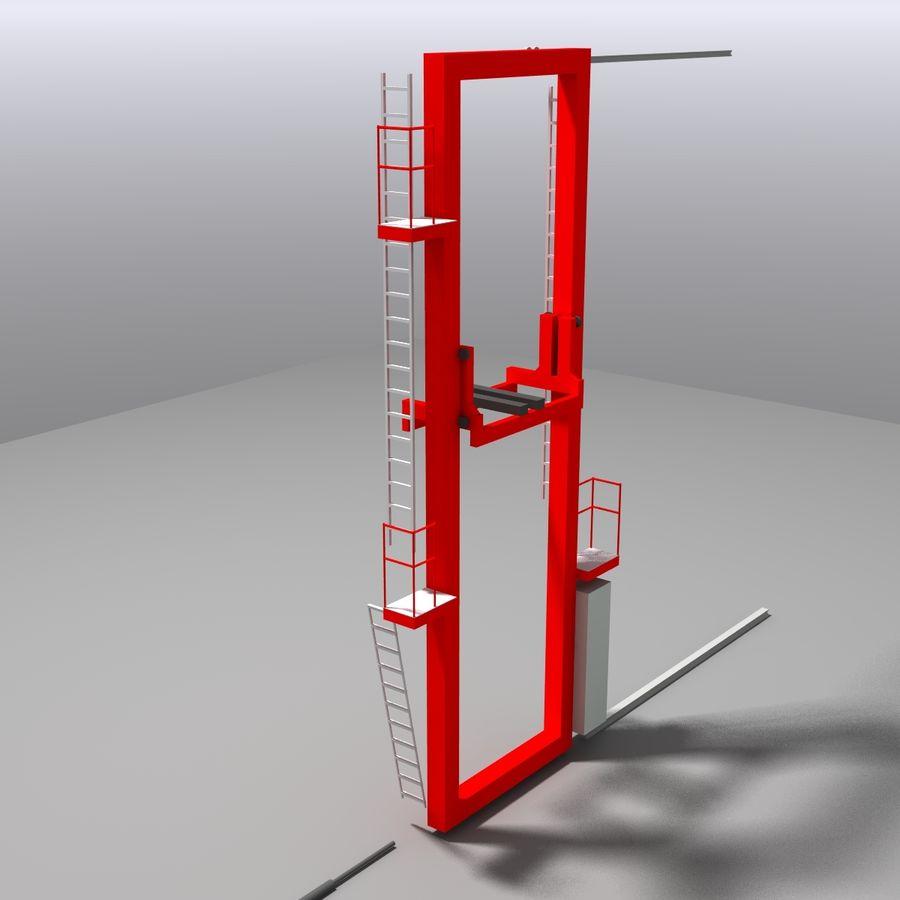 Conveyor stuff royalty-free 3d model - Preview no. 7