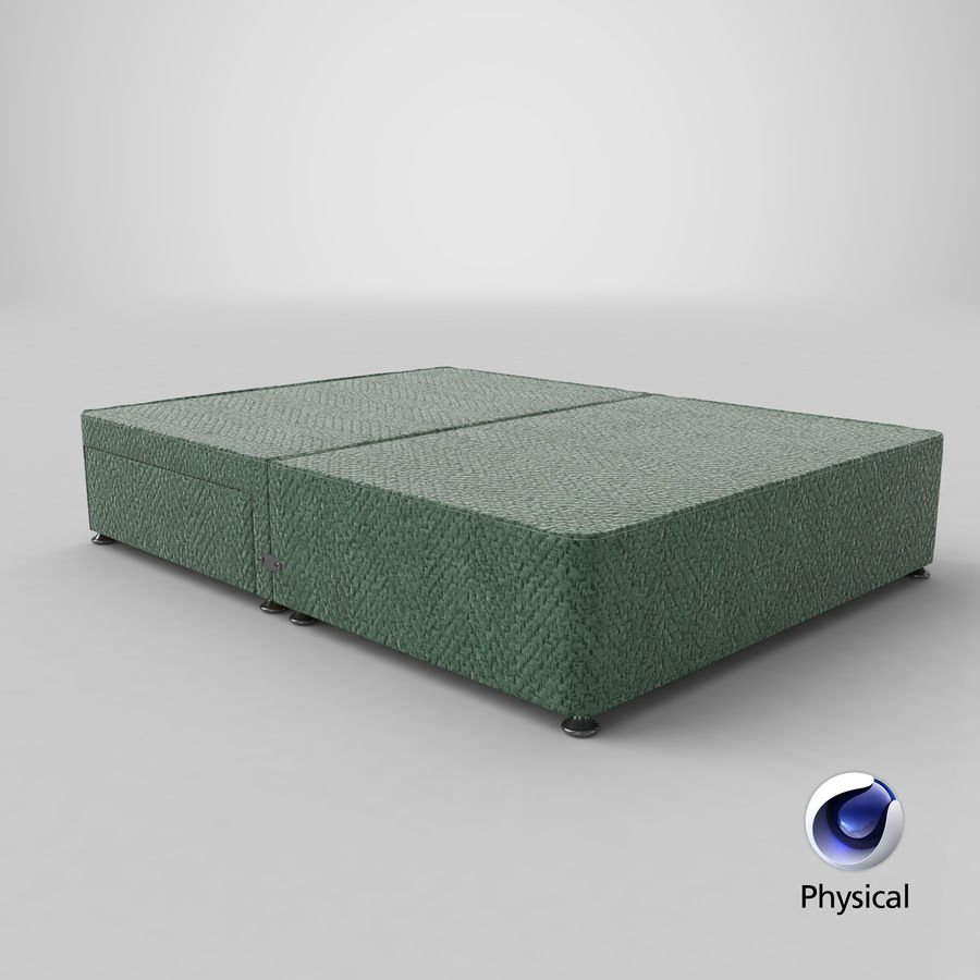 Bed Base 05 Mint royalty-free 3d model - Preview no. 21