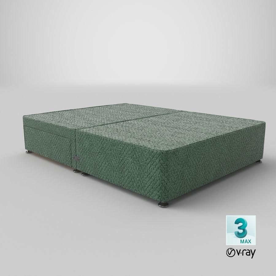 Bed Base 05 Mint royalty-free 3d model - Preview no. 25