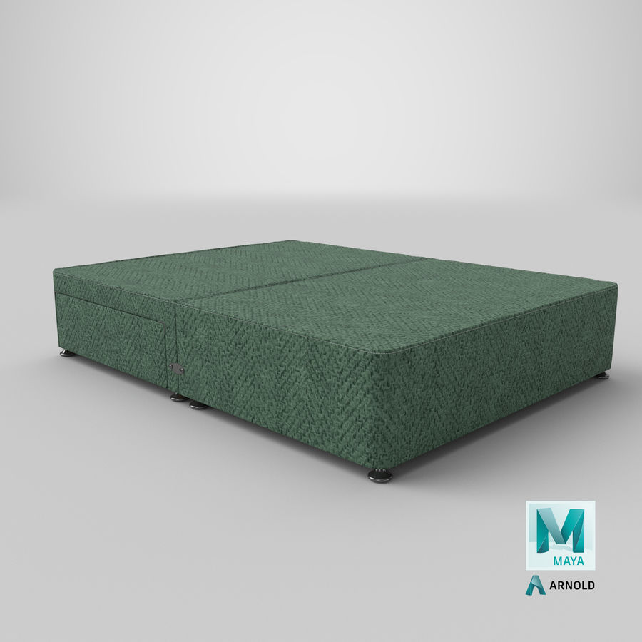 Bed Base 05 Mint royalty-free 3d model - Preview no. 26