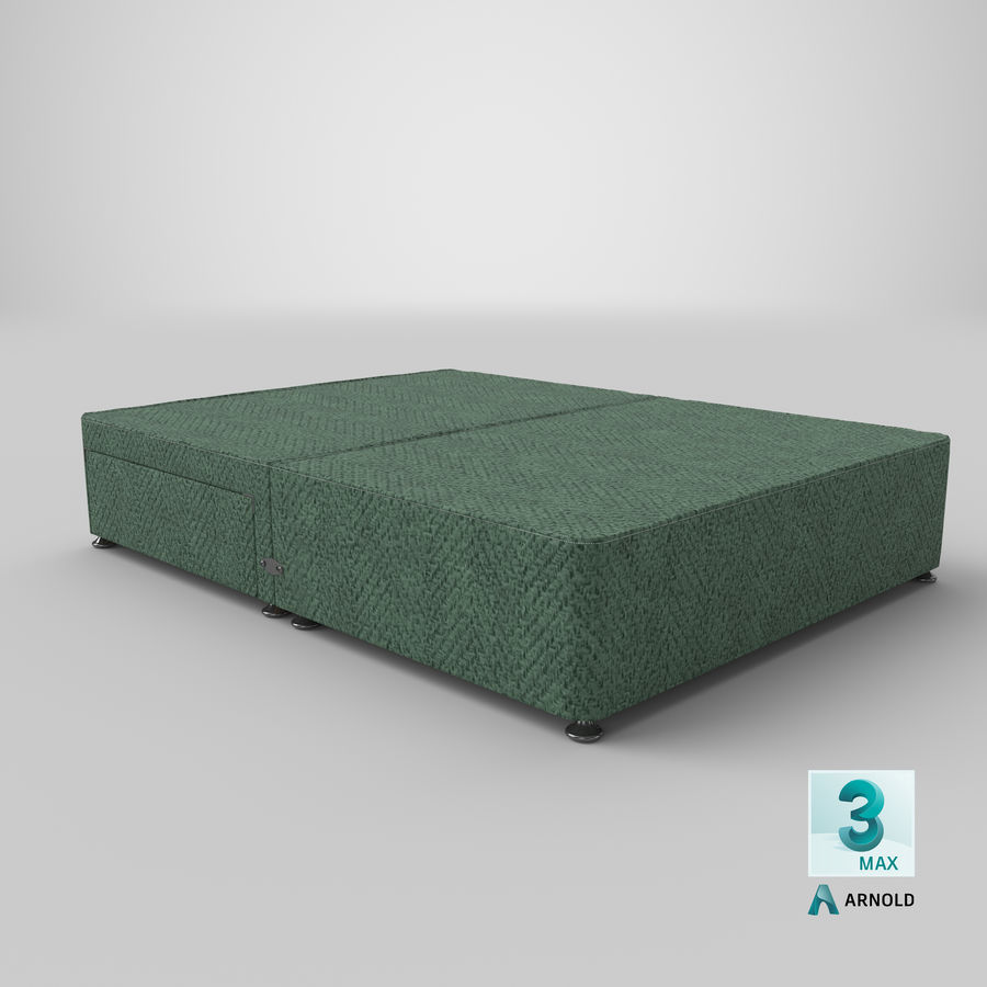 Bed Base 05 Mint royalty-free 3d model - Preview no. 23