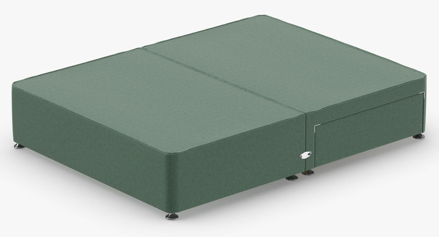 Bed Base 05 Mint royalty-free 3d model - Preview no. 6
