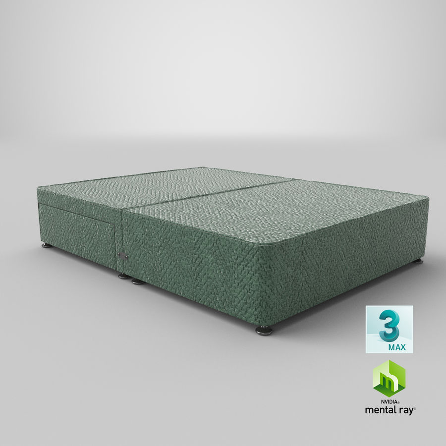 Bed Base 05 Mint royalty-free 3d model - Preview no. 24