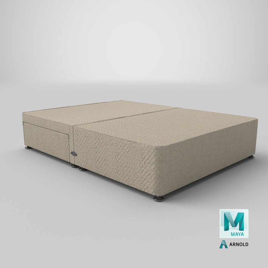 Bed Base 05 Oatmeal royalty-free 3d model - Preview no. 26