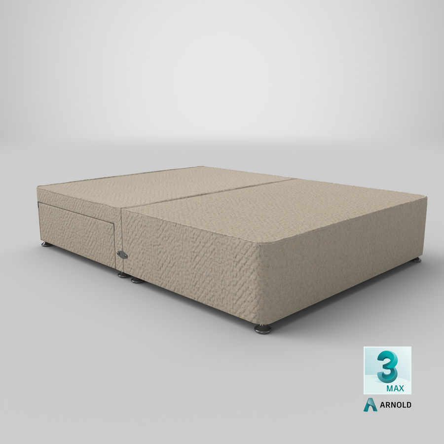 Bed Base 05 Oatmeal royalty-free 3d model - Preview no. 23