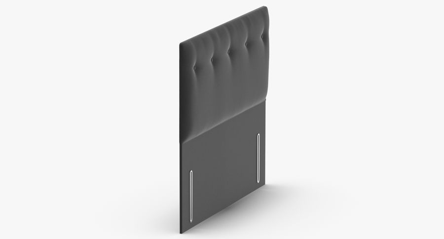 Headboard 07 Charcoal royalty-free 3d model - Preview no. 4