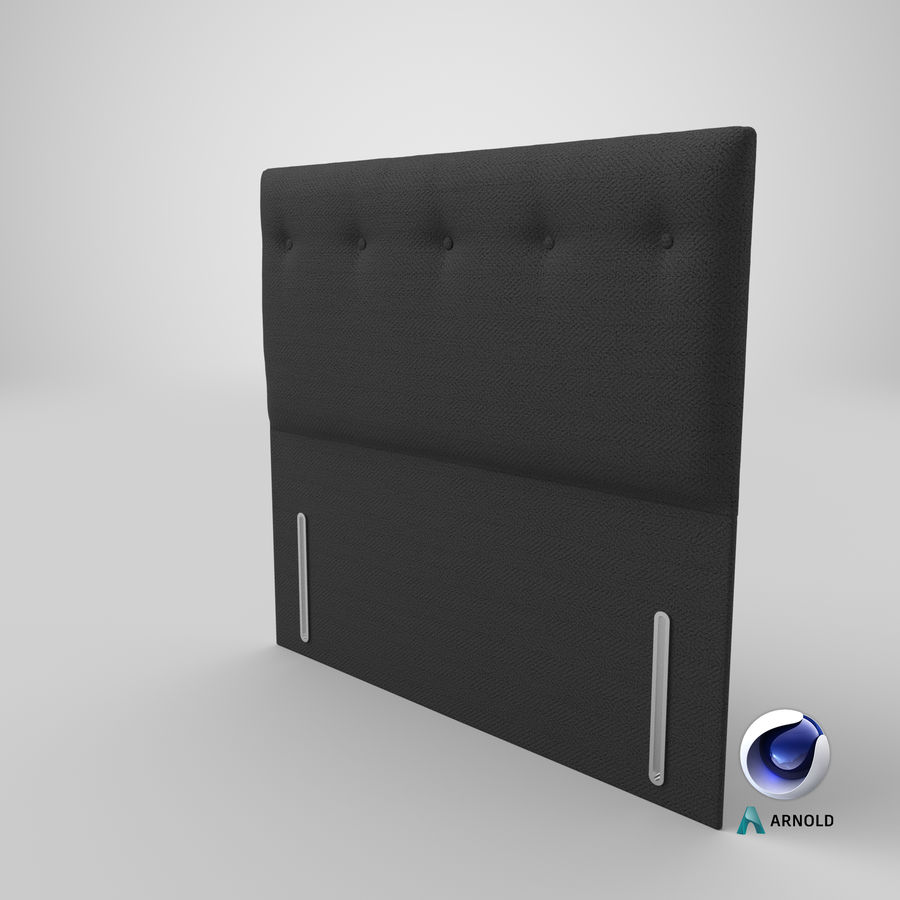 Headboard 07 Charcoal royalty-free 3d model - Preview no. 23