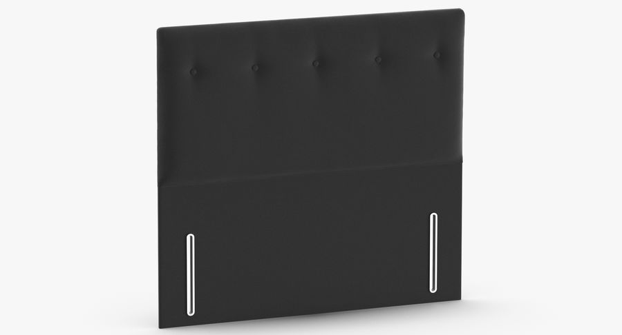 Headboard 07 Charcoal royalty-free 3d model - Preview no. 3