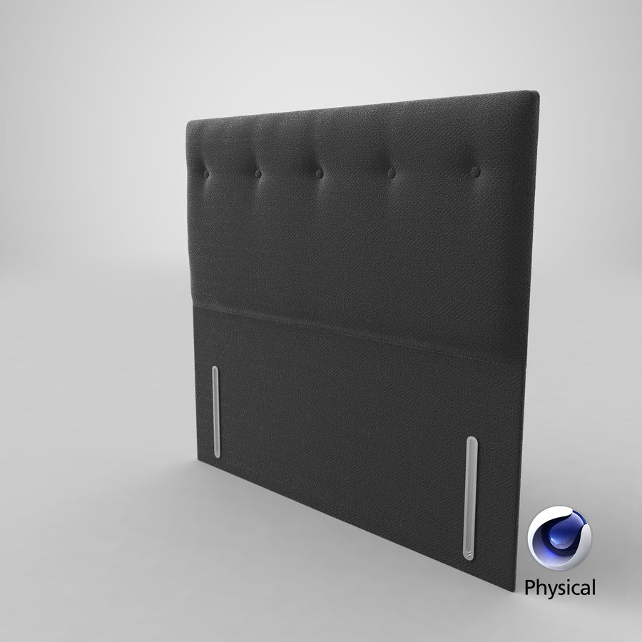 Headboard 07 Charcoal royalty-free 3d model - Preview no. 22