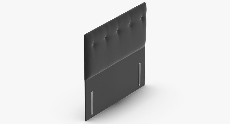 Headboard 07 Charcoal royalty-free 3d model - Preview no. 7