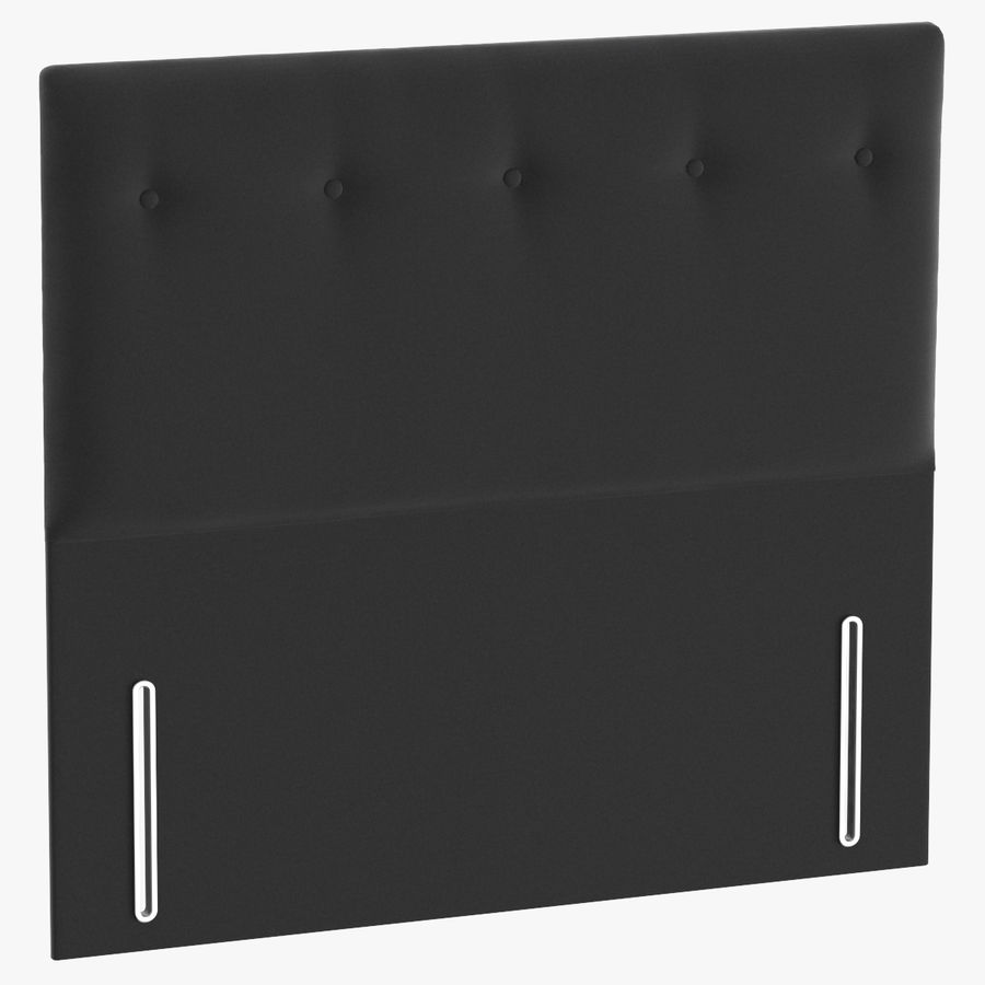 Headboard 07 Charcoal royalty-free 3d model - Preview no. 1