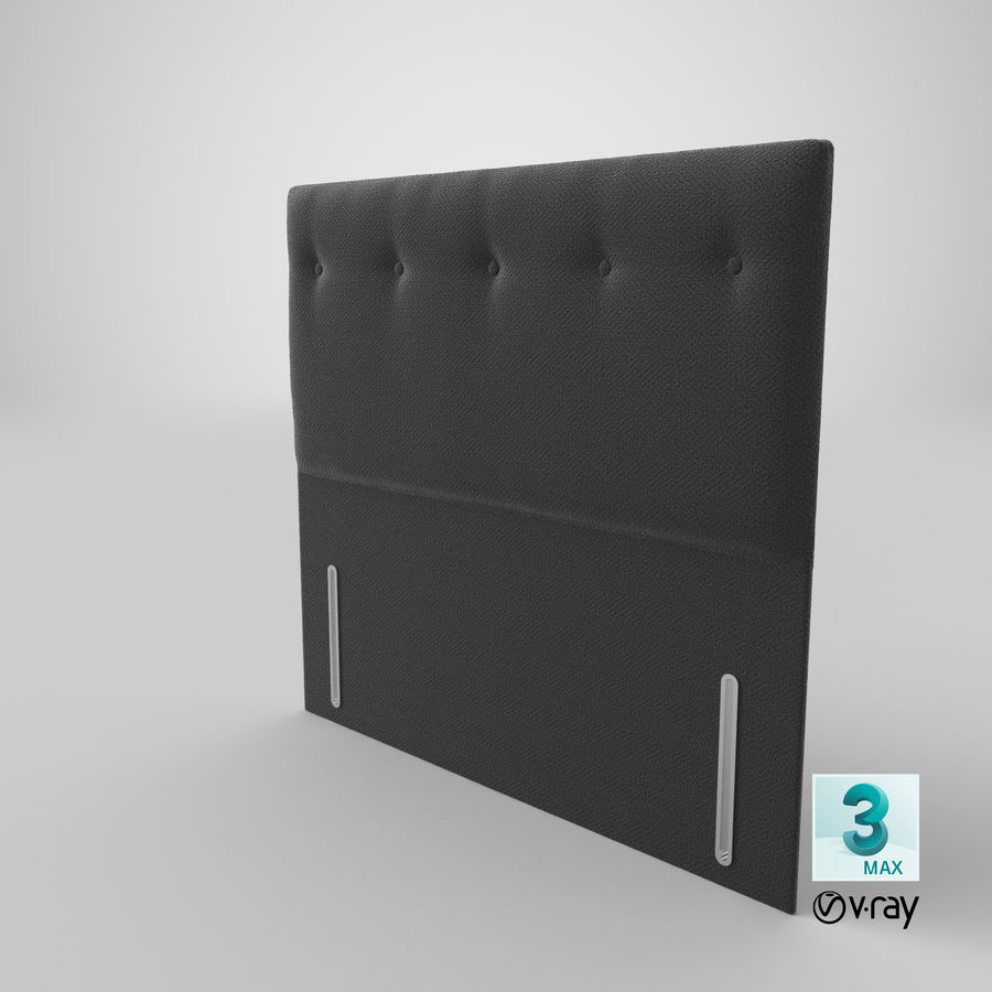 Headboard 07 Charcoal royalty-free 3d model - Preview no. 26