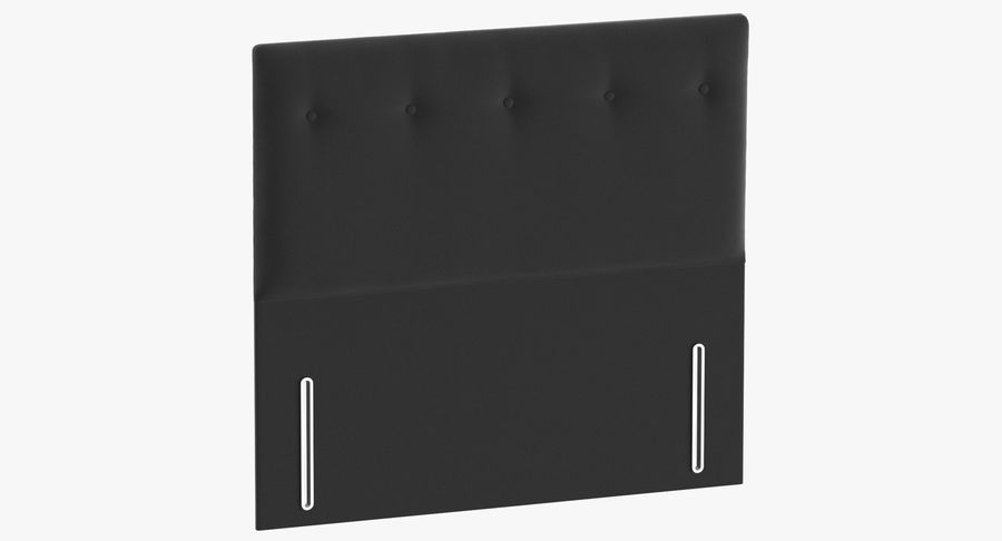 Headboard 07 Charcoal royalty-free 3d model - Preview no. 2