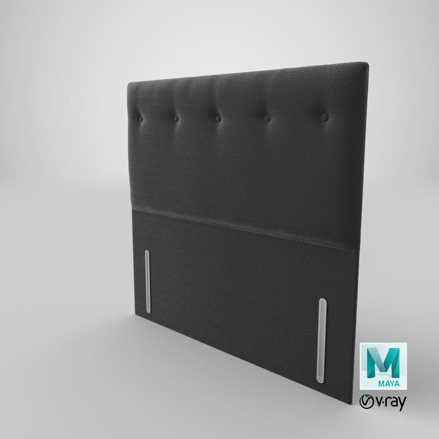 Headboard 07 Charcoal royalty-free 3d model - Preview no. 29