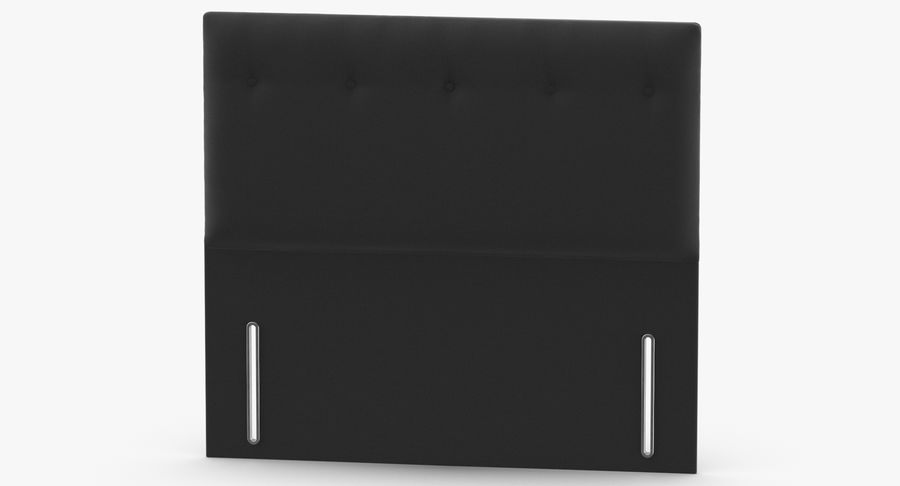 Headboard 07 Charcoal royalty-free 3d model - Preview no. 5
