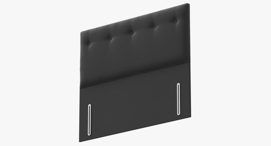 Headboard 07 Charcoal royalty-free 3d model - Preview no. 9