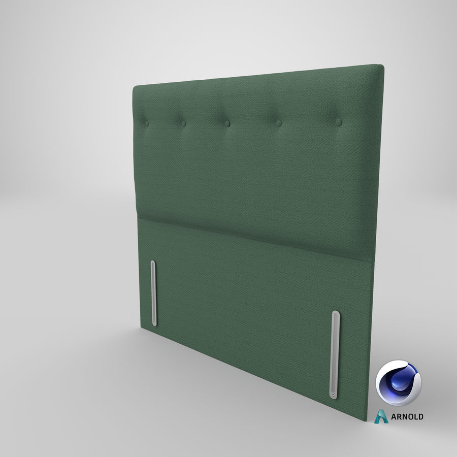 Headboard 07 Mint royalty-free 3d model - Preview no. 23