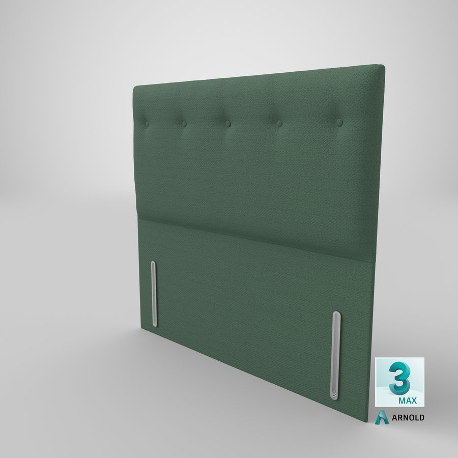 Headboard 07 Mint royalty-free 3d model - Preview no. 24