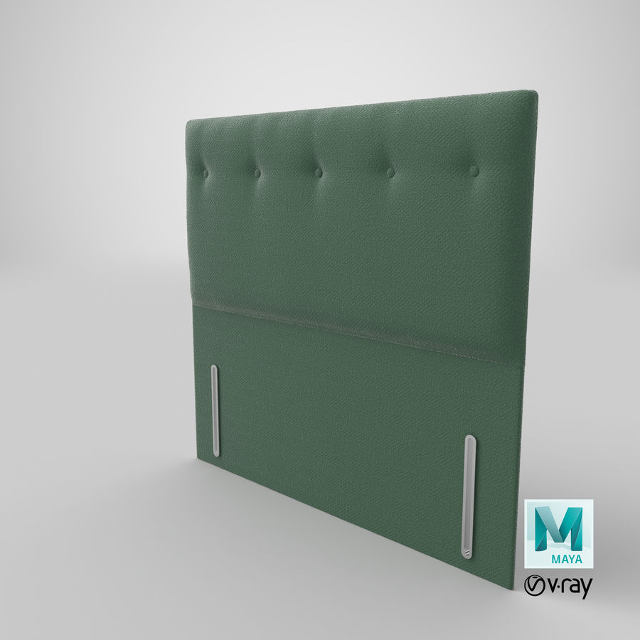 Headboard 07 Mint royalty-free 3d model - Preview no. 29