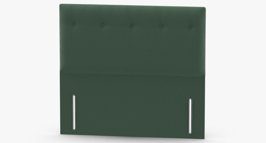 Headboard 07 Mint royalty-free 3d model - Preview no. 5