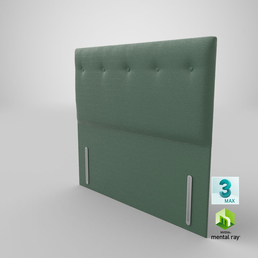 Headboard 07 Mint royalty-free 3d model - Preview no. 25