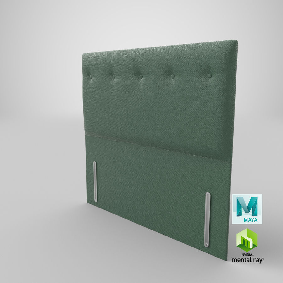 Headboard 07 Mint royalty-free 3d model - Preview no. 28