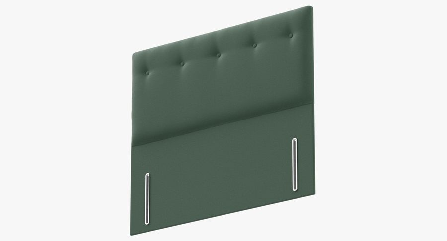 Headboard 07 Mint royalty-free 3d model - Preview no. 9